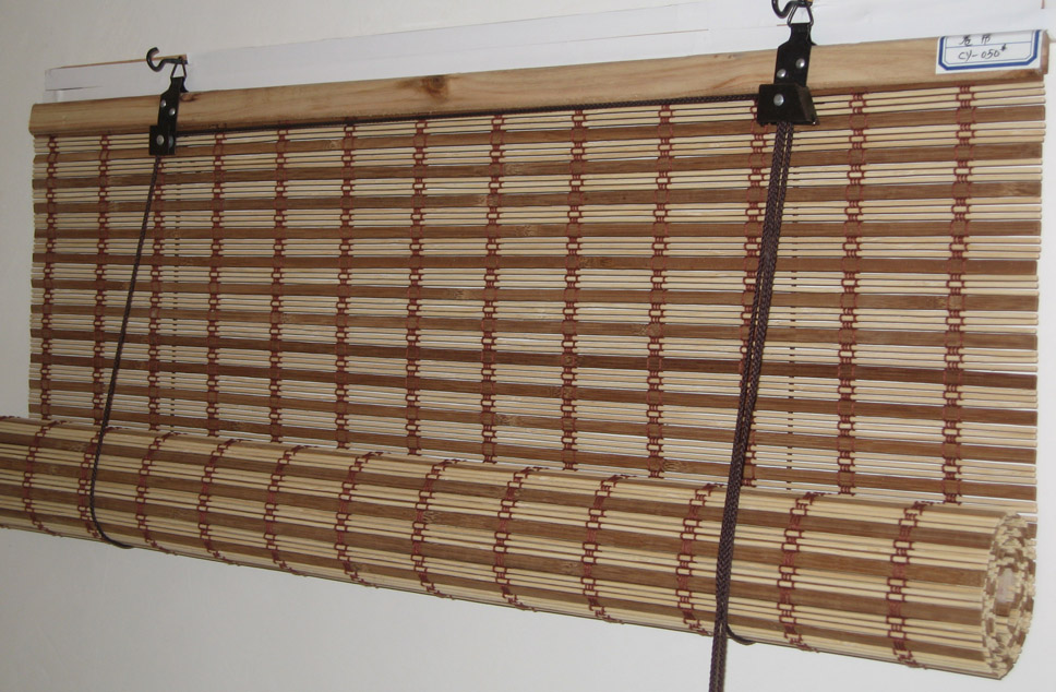 Simple Bamboo Roll Up Blinds
