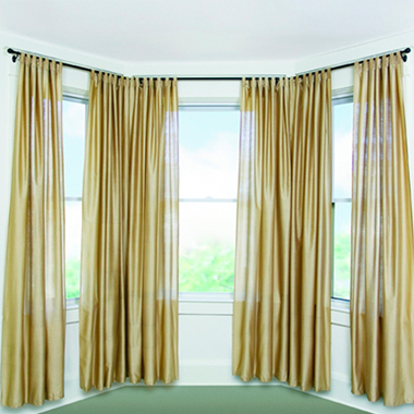 Stunning Bay Window Curtain Rod