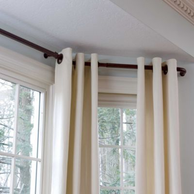 Good Bay Window Curtain Rods