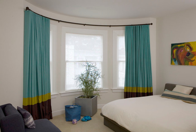 Lovely Bay Window Shades