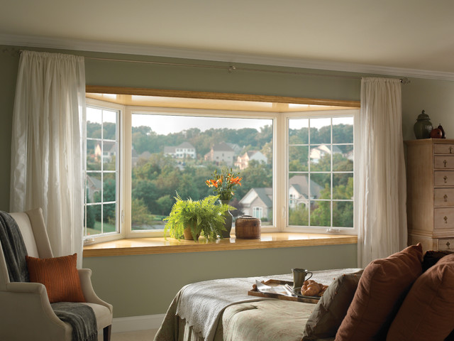 White Bay Window Treatments