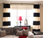 Shapely Black And White Curtains