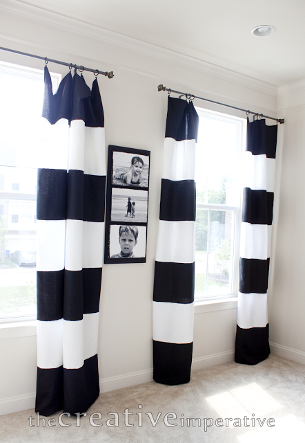 Stunning Black And White Striped Curtains