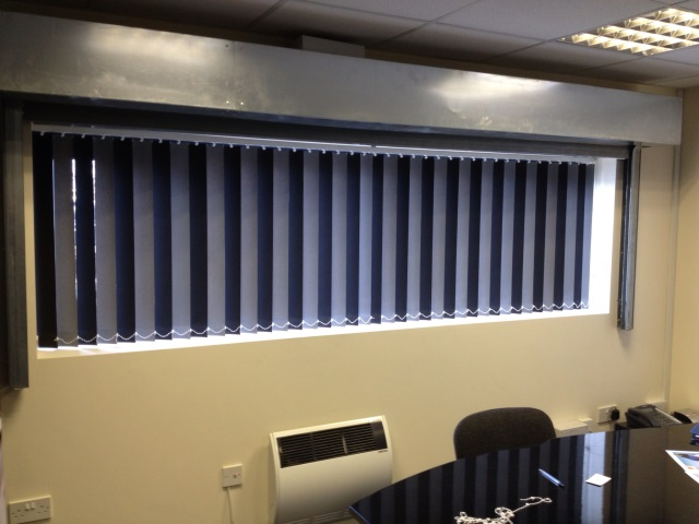 Short Black Vertical Blinds