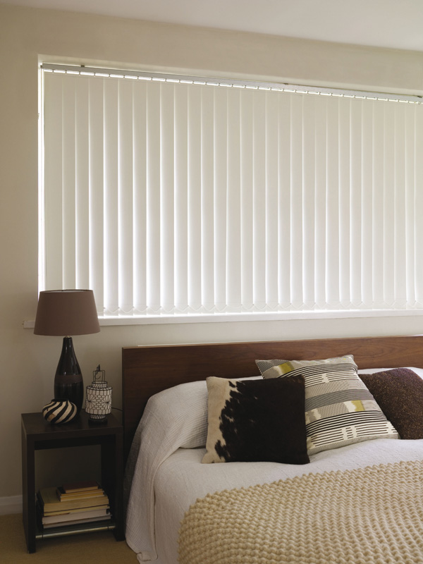 White Blackout Vertical Blinds