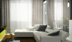 White Blinds And Curtains