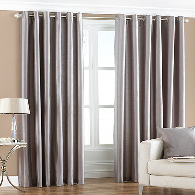 Shiny Grey Cheap Net Curtains