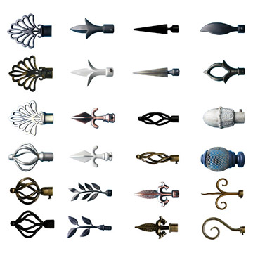 Various Curtain Rod Finials