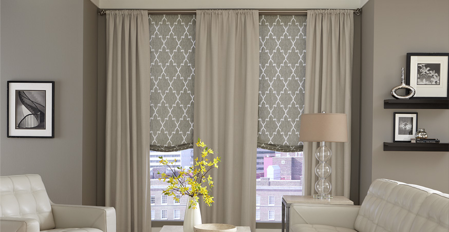 Lovely Custom Roman Shades