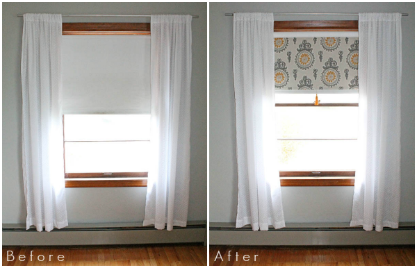 Simple Fabric Window Shades