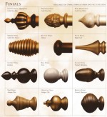 Lovely Finials For Curtain Rods