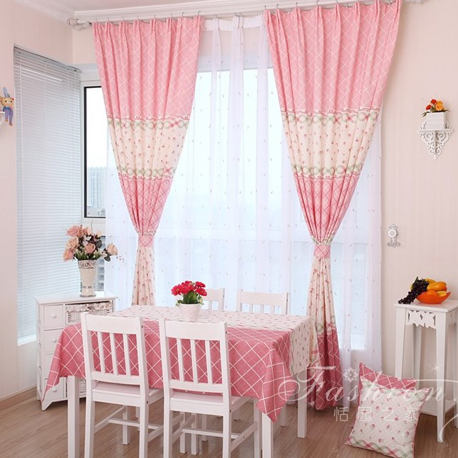 Pink Girls Bedroom Curtains