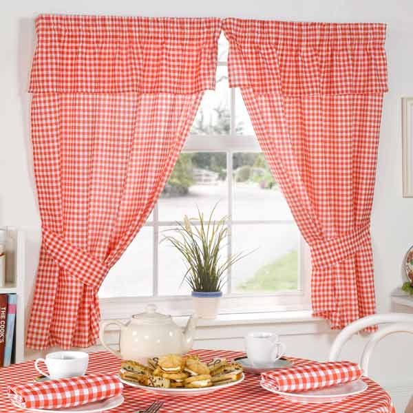 Red Kitchen Curtain
