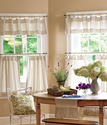 Alluring Kitchen Tier Curtains