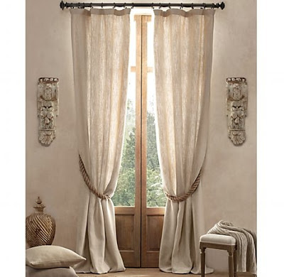 Comely Linen Drapes