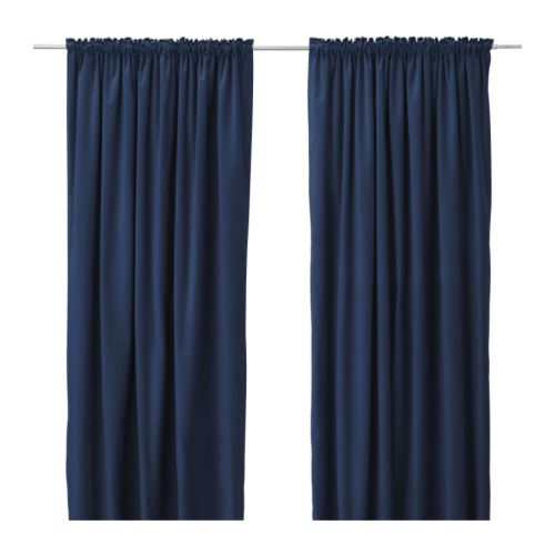Easy Navy Blue Curtains