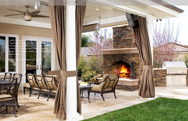 Enticing Outdoor Drapes