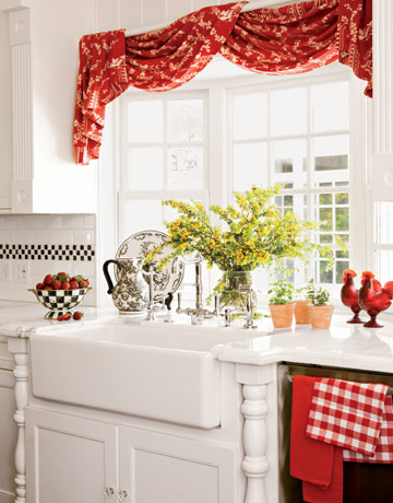 Unique Red Kitchen Curtains