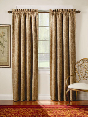 Brown Rod Pocket Curtains