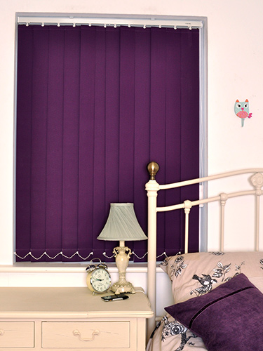 Purple Vertical Blackout Blinds