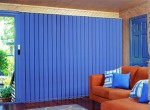 Sharp Blue Vertical Blinds