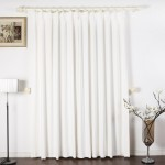 Solid White Blackout Curtains