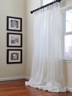 Long White Curtains