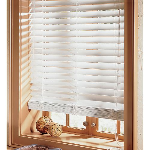 Alluring White Wood Blinds