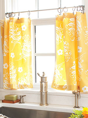 Nice Yellow Kitchen Curtains