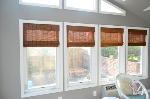 Four Small Bamboo Shades