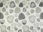 Leaf Linen Curtain Fabric