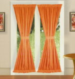 Orange Door Curtains
