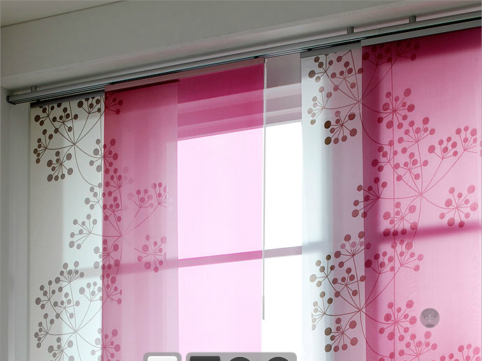 Pink White Panel Curtains