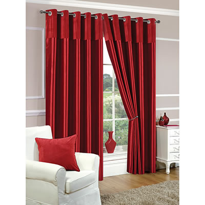 Shiny Red Curtains