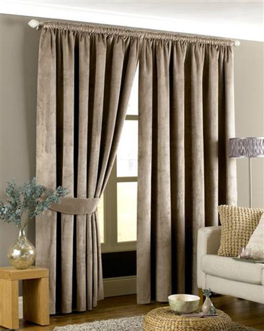 Imperial Taupe Velvet Curtains