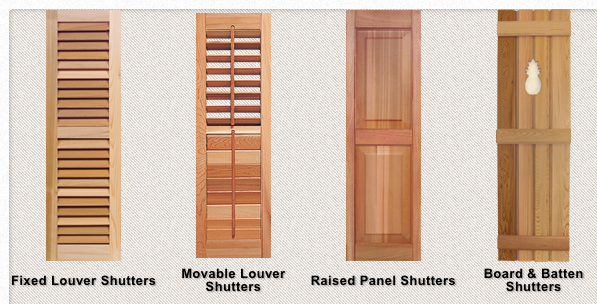 Variety Wood Shutters