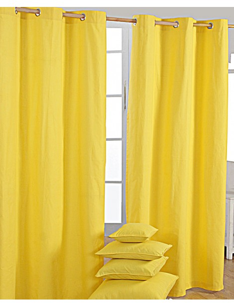 Bright Yellow Curtains 2016