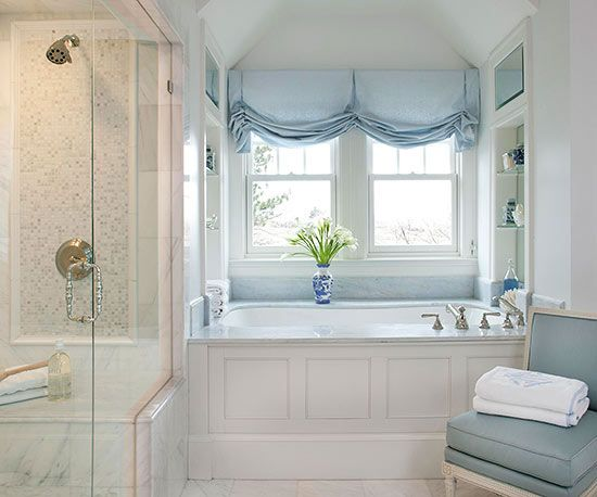 Lovely Bathroom Window Treatments