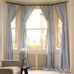 Grey Bay Window Treatments