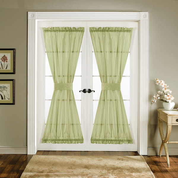 Light Green Door Panel Curtains