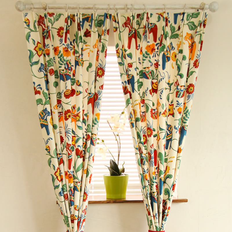Bright Floral Curtains