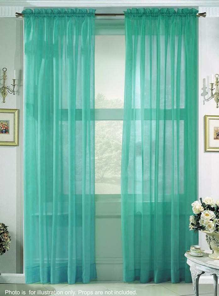 See Through Turquoise Curtains