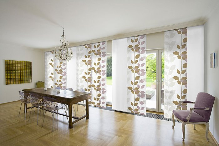 Clean Window Treatments For Sliding Glass Doors