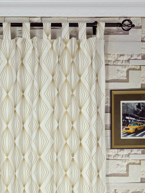 Geometrical Cotton Curtains