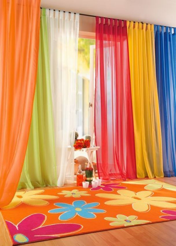 Colorful Home Curtains