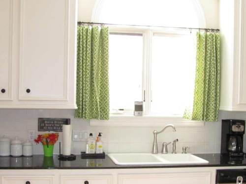 Fresh green Kitchen Window Curtains