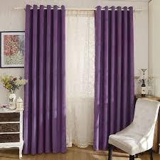 Chenille Purple Curtains