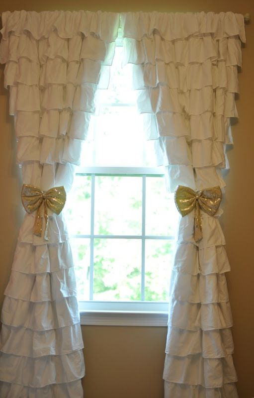 Ribboned Ruffled Curtains