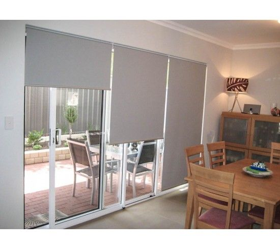 Grey Sliding Door Blinds