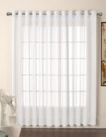 R.LANG Grommet Top Sheer Curtains Voile Window Panel 1 Pair White 52″W x 90″L (Set of 2 Panels)